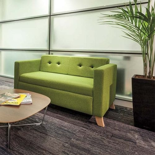 Tornado office and reception settee