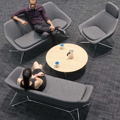open office and reception soft seating