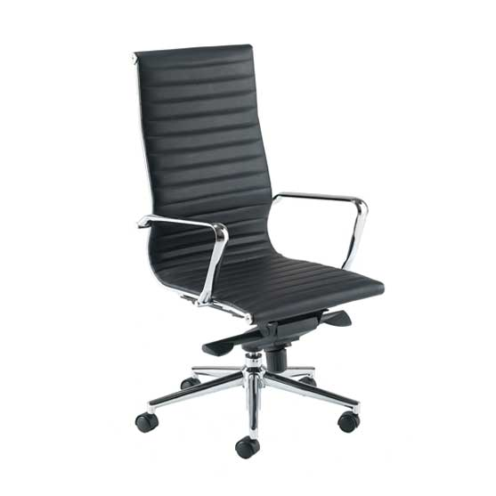 Aria Leather Executive Chair in black