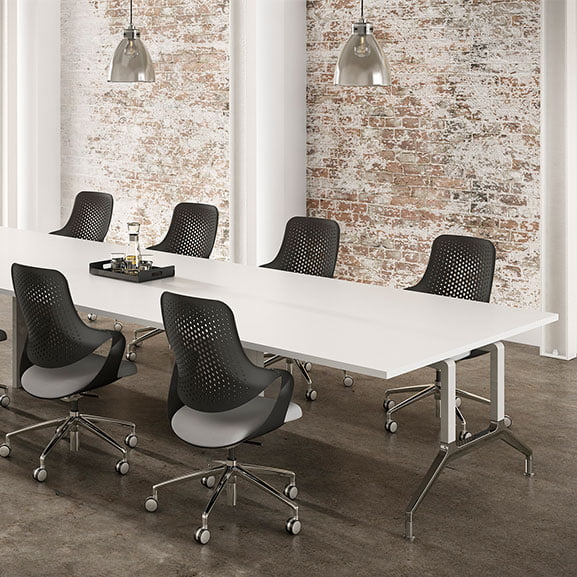 Boss deploy meeting table with leg detail