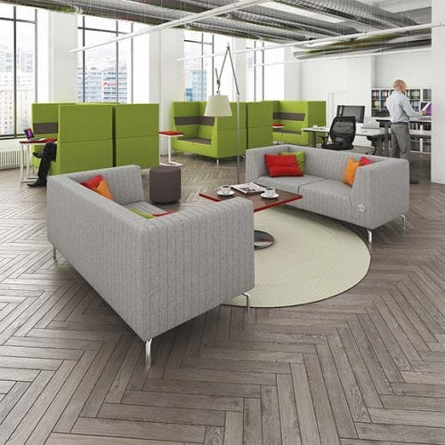 Alban low back office and reception settee
