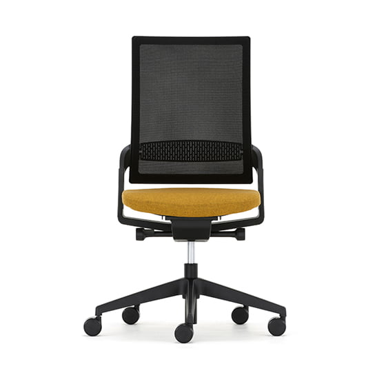 Ecoflex Mesh Chair in black and yellow