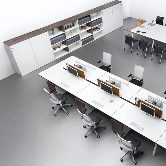 Ecoflex Mesh Chairs shown in an office environment
