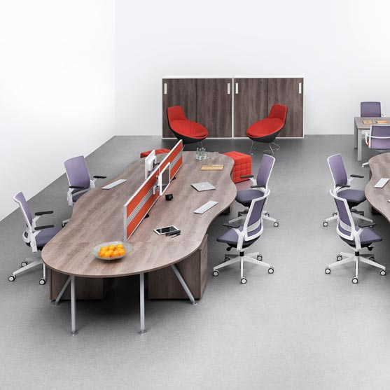 Ecoflex Mesh Chairs in an office