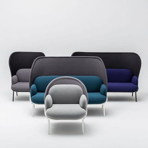 mesh office and reception settees