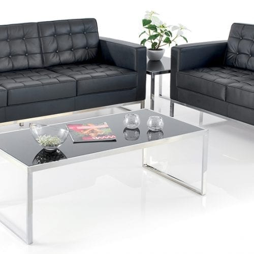 classico leather office and reception settee