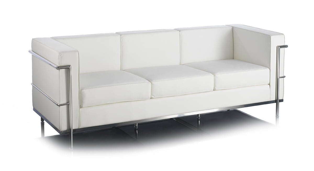 Cube leather office and reception settee