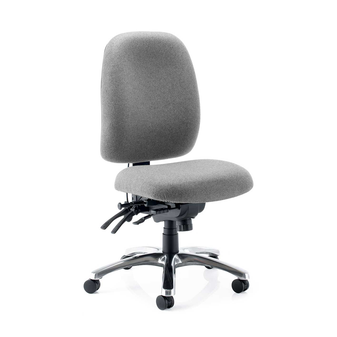 grey stellar posture chair with no arms