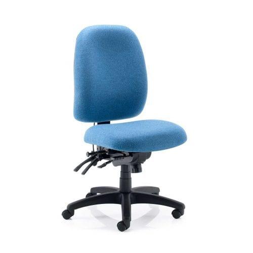 Psi stellar posture ergonomic chair with black nylon base