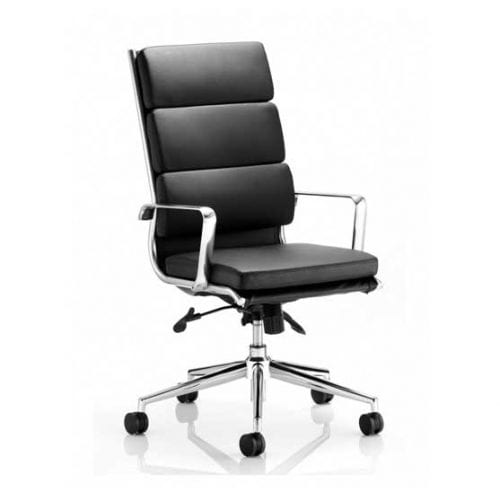 Savoy Leather Executive Chair in Black