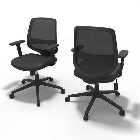 Well Black Mesh Office Chair