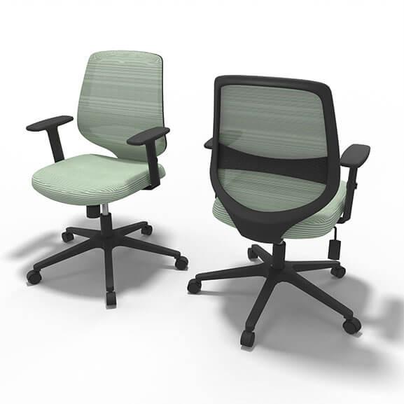 Well Cyan Mesh Office Chair