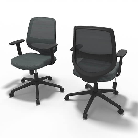 Well Grey Mesh Office Chair