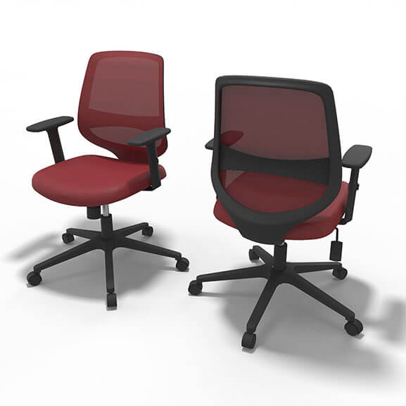 Well Red Mesh Office Chair