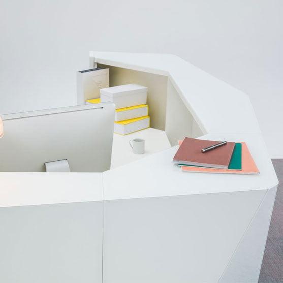 Alpa Reception Desk -white