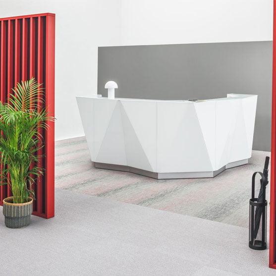 Alpa Reception Desk in a modern office layout