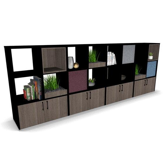 Black BXS Room Divider