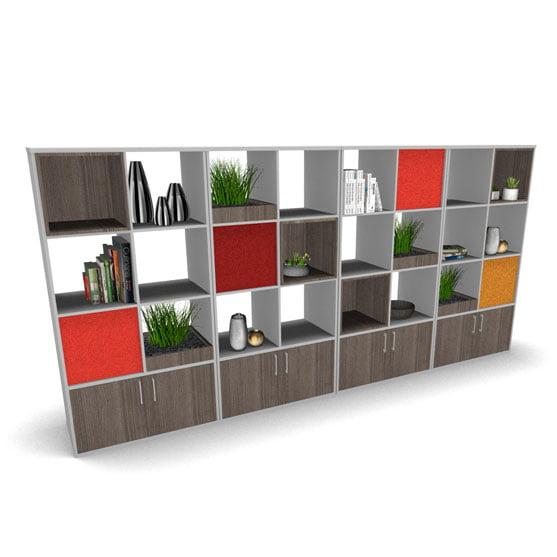 BXS Room Divider Wood Finish