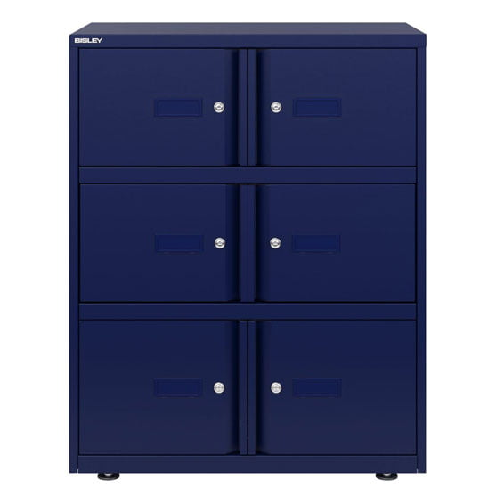 Blue Bisley 6 doors Essential Lockers
