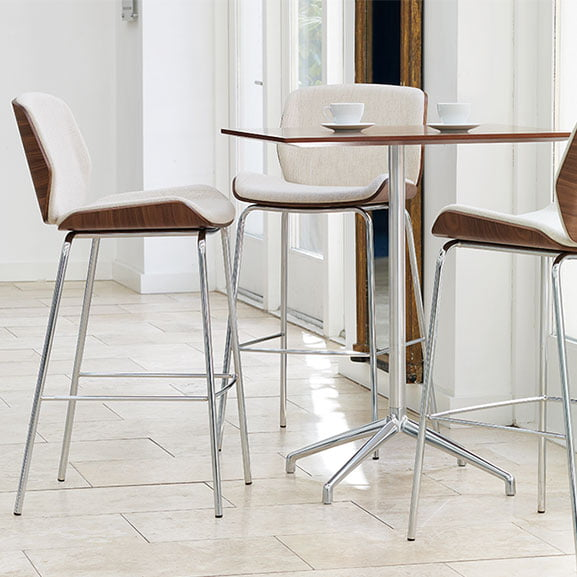 Kruze High Stool shown with a High Table