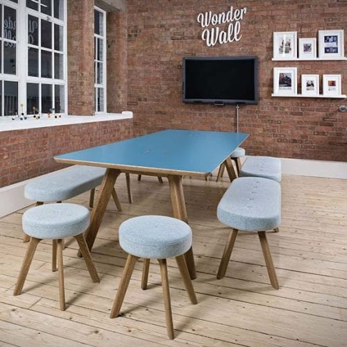 Centro Work Table blue top by Connection