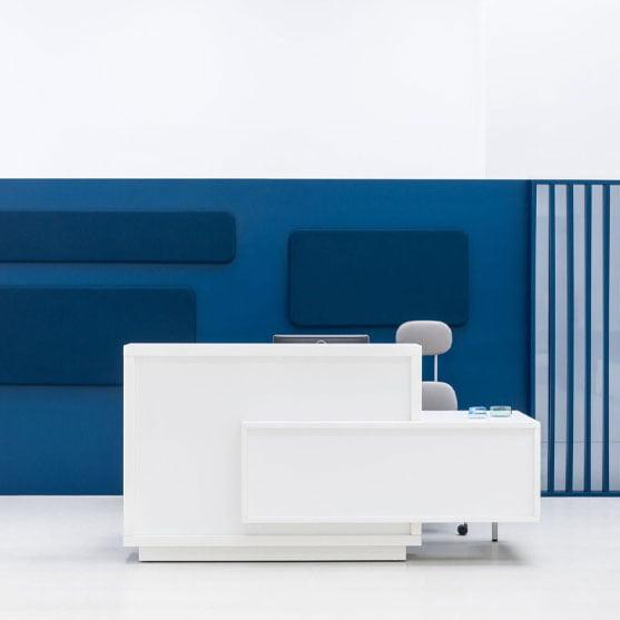 Foro Reception Desk in white