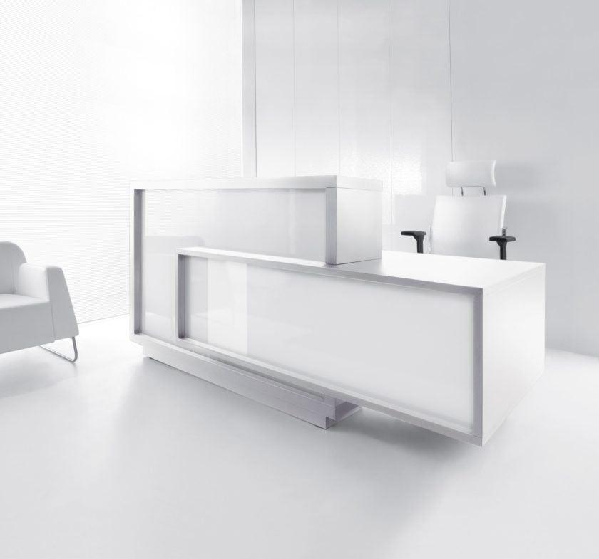 Foro Reception Desk in a white office