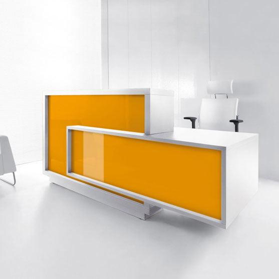 Foro Reception Desk in yellow