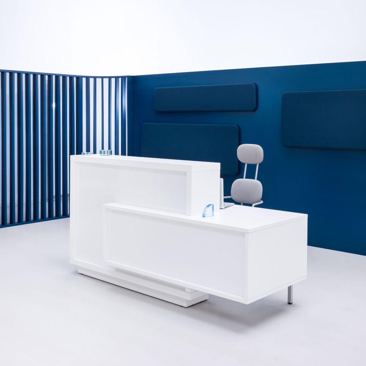 Foro Reception Desk blue background
