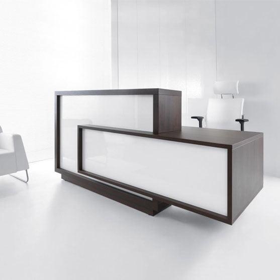 Foro Reception Desk Wood Frame