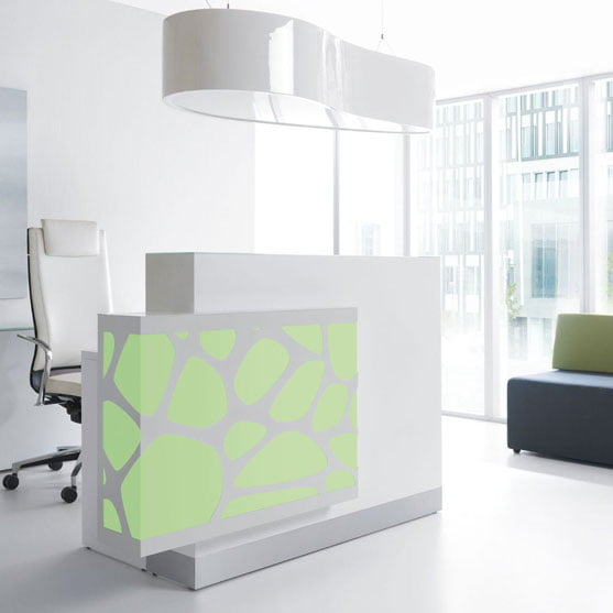 Green and White Organic Reception Desk BT Office Furniture