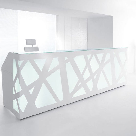 Large Reception Counter LED and modern design