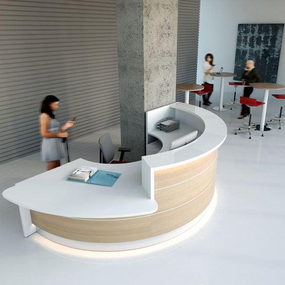 Light Brown Valde Reception Desk