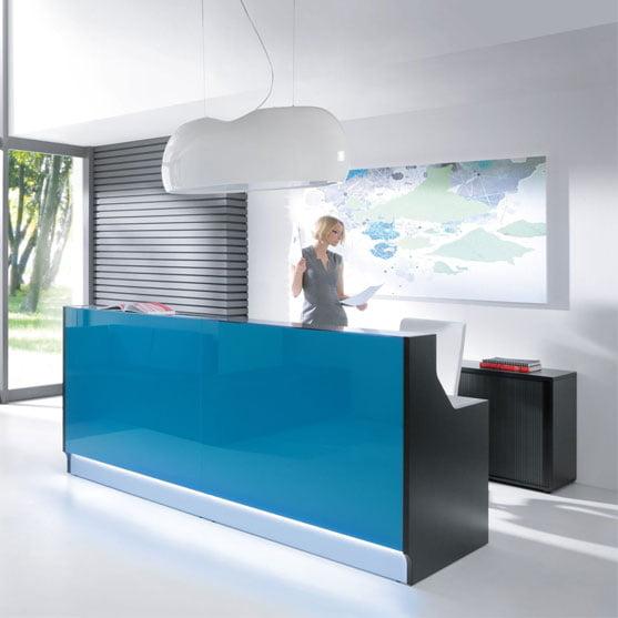 MDD Linea Reception Desk in Blue
