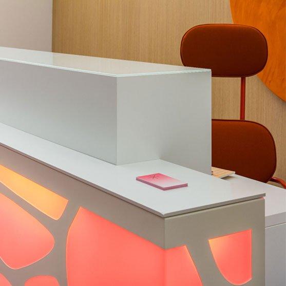 Detail of Organic Reception Desk