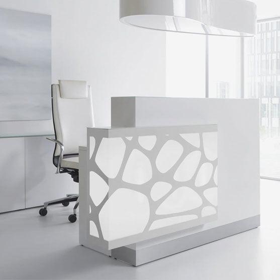 White Organic Reception Desk from MDD