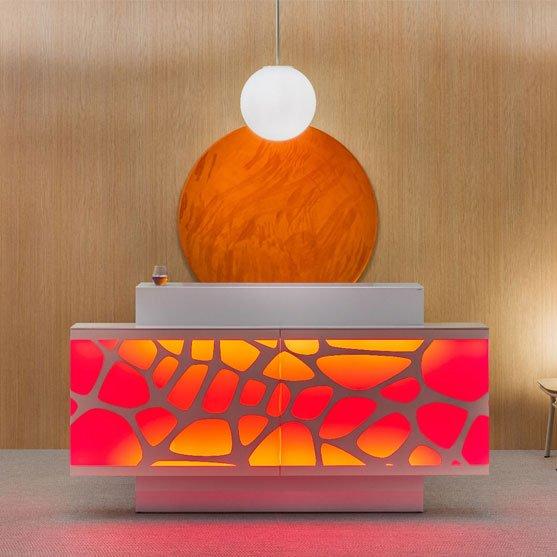 Organic Reception Desk in bright colours