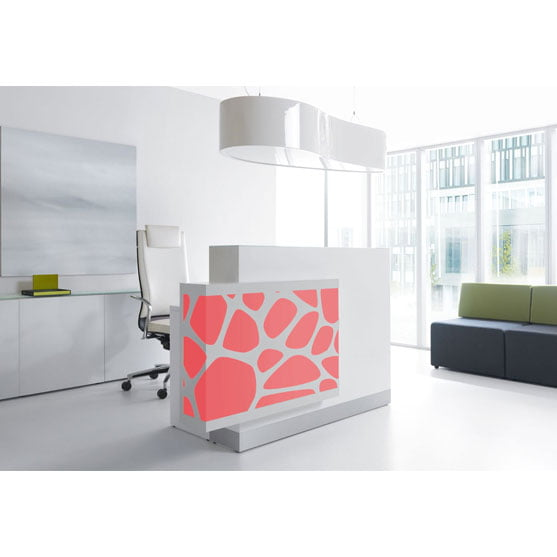 Red and White Modern Reception Counter from MDD