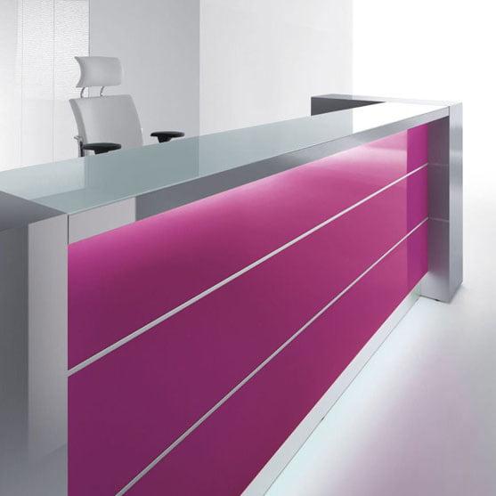 Valde Reception Desk in Pink