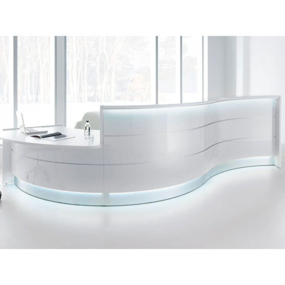 Valde Reception Desk White
