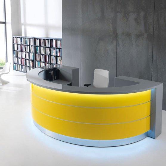 Valde Recepton Desk in yellow and grey