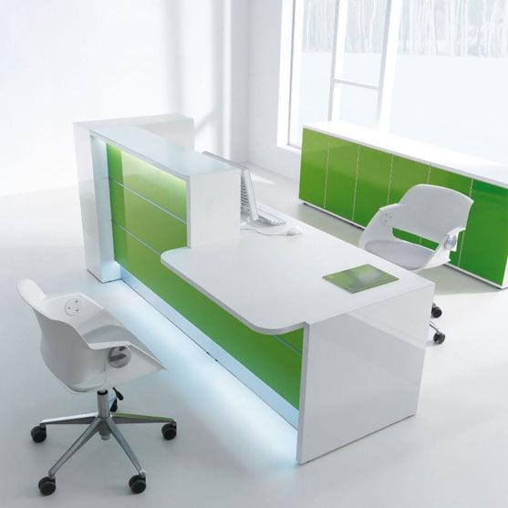 Valde Reception Desk with matching storage