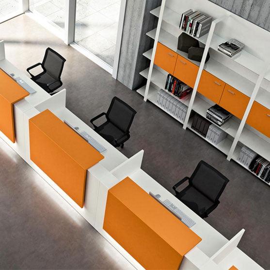 Z2 Reception Desk in Orange