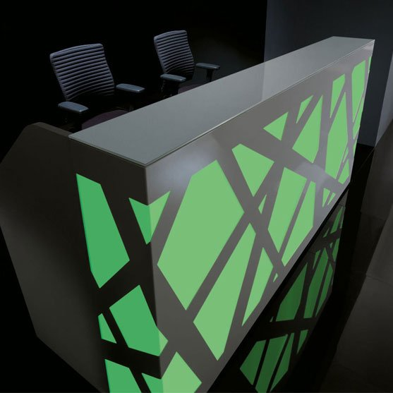 Beautiful Reception Desk with LED