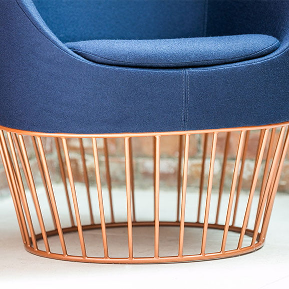 Dixi Lounge Chair metal base