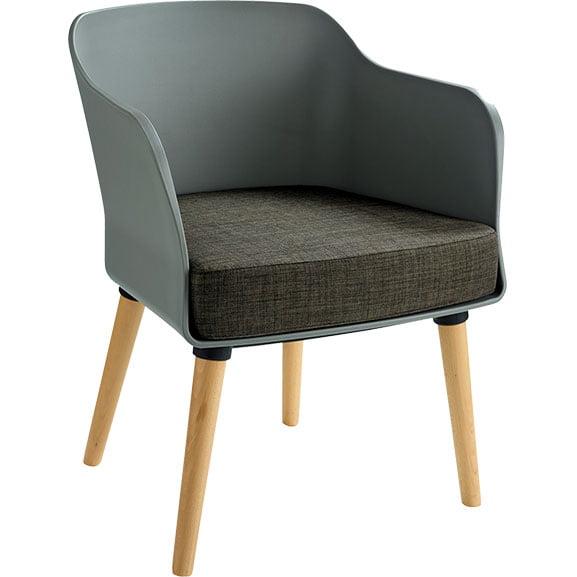 Elite Ciro Lounge Chair wooden legs