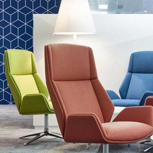 Kruze Lounge Chair in different materials