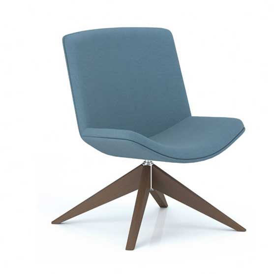 Pledge Spirit Lounge fully upholstered mid back lounge chair