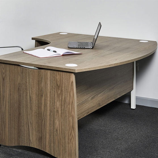 EX10 bow Fronted Desk from Gresham