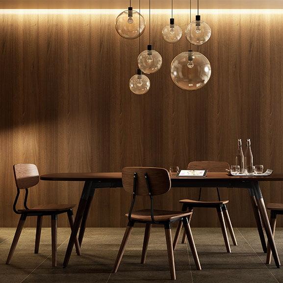 Lozenge boardroom table